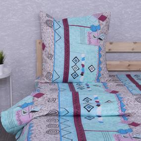 Постельное белье из бязи 150/3 Арабика цвет голубой 1.5 сп с 1-ой нав. 70/70 фото