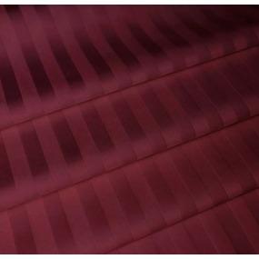 Ткань на отрез страйп сатин полоса 1х1 см 220 см 120 гр/м2 цвет 084/2 бордовый фото