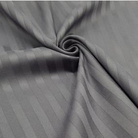 Ткань на отрез страйп сатин полоса 1х1 см 220 см 120 гр/м2 цвет 960/2 серый фото