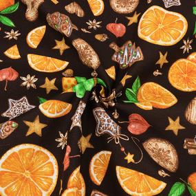Ткань на отрез рогожка 150 см 12214/1 Цитрус цвет коричневый фото