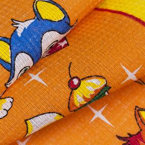 Вафельное полотно 45 см 170 гр/м2 329А цвет оранжевый фото