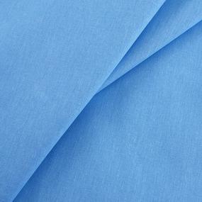Бязь гладкокрашеная 120гр/м2 150 см ТД цвет голубой фото