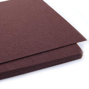 Фетр листовой жесткий IDEAL 1 мм 20х30 см FLT-H1 упаковка 10 листов цвет 687 коричневый фото