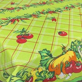 Скатерть хлопок Овощи 150/150 фото