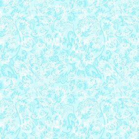 Ткань на отрез Тик 150 см 170 гр/м2 5337-1 Кружево цвет голубой фото