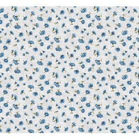 Ткань на отрез ситец 95 см 21258/1 Василек фото