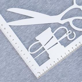 Ткань на отрез футер 3-х нитка компакт пенье 4985-1 цвет серый меланж фото