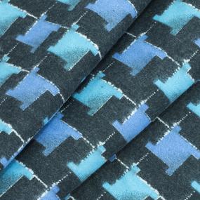 Ткань на отрез фланель 80 см 20103 Клетка цвет синий фото