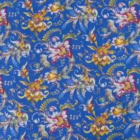 Ткань на отрез фланель 80 см 20104 Цветы на синем фото