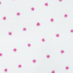 Ткань на отрез фланель 80 см Звезды цвет розовый фото