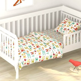 Постельное белье в детскую кроватку из поплина 1842 с простыней на резинке фото