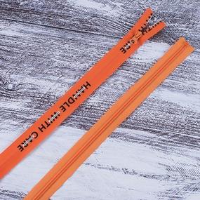 Молния водостойкая №7В3 буквы разъем 65см оранж 006 фото