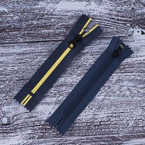 Молния водостойкая №7В5 полоса матовый н/р 16см темно синий 058/желтый 001 фото