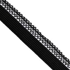 Резинка TBY бельевая ультрамягкая 12 мм RB06 цвет F322 черный уп 100 м фото