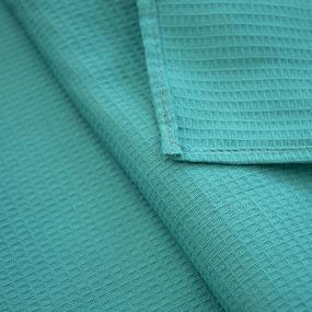 Полотенце вафельное 35/50 см цвет бирюзовый, петелька фото