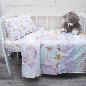 Пододеяльник детский из перкаля 13247/1 Unicorns Модель 1, 110х145 см фото