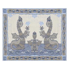 Покрывало гобелен детское Драконы синий 125/150 фото
