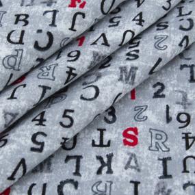 Ткань на отрез кулирка YT5010 Матрица цвет серый фото