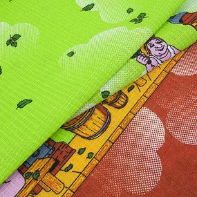 Полотенце вафельное банное 150/75 см 60/3 Баня цвет салатовый фото