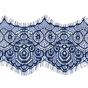 Кружево реснички 12см J056 синий упаковка 3 м фото