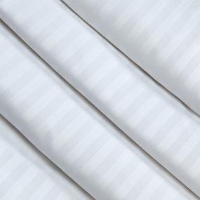 Ткань на отрез Страйп сатин полоса 3х3 см 280 см 135 гр 60х40 air jet фото