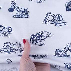 Ткань на отрез кулирка T528 Тракторы фото
