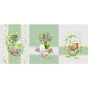 Ткань на отрез рогожка 150 см 11569/1 Весна фото