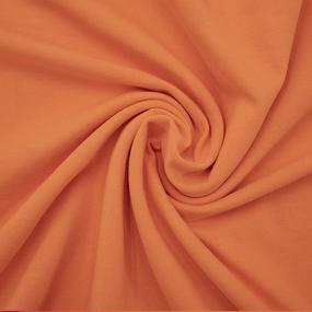 Ткань на отрез футер петля с лайкрой цвет Оранжевый фото
