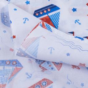 Набор детских пеленок ситец 4 шт 90/120 см 21225/1 Кораблик фото
