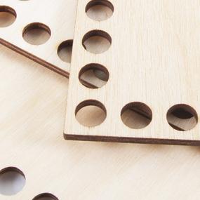 Деревянное донышко для корзин прямоугольник с острыми углами 25/15 см фото
