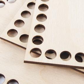 Деревянное донышко для корзин черверть круга 15 см фото