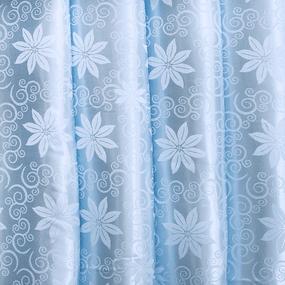 Мерный лоскут портьерная ткань 150 см 17 цвет голубой цветы фото
