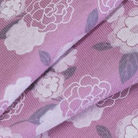 Ткань на отрез кулирка Цветы на розовом М-2054 фото