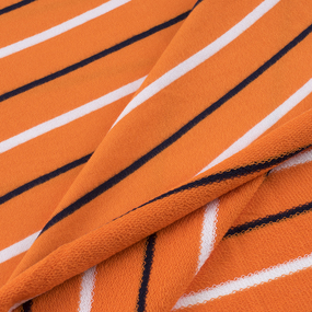 Ткань на отрез футер Жаккард цвет оранжевый фото