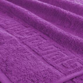 Полотенце махровое Туркменистан 40/65 см цвет фиолетовый фото