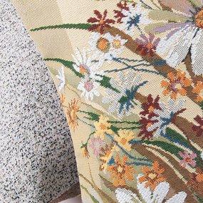 Наволочка гобелен декоративная 45/45 см Ромашки фото