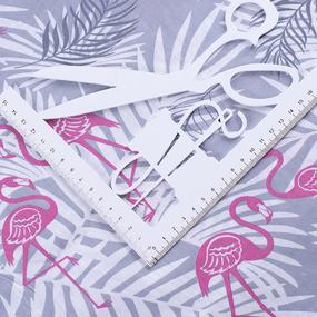 Ткань на отрез бязь 120 гр/м2 детская 150 см 2112/1 Фламинго фото