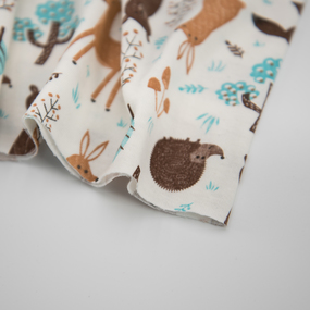 Ткань на отрез кулирка R4113-V1 Лесные звери фото