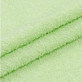 Ткань на отрез махровое полотно 220 см 380 гр/м2 цвет салат фото