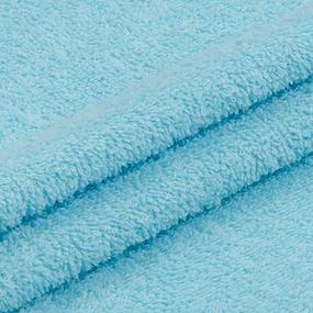 Ткань на отрез махровое полотно 220 см 380 гр/м2 цвет бирюза фото