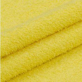 Ткань на отрез махровое полотно 220 см 380 гр/м2 цвет желтый фото