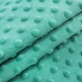 Мерный лоскут Плюш Минки Польша 160 см/35 см цвет изумруд фото
