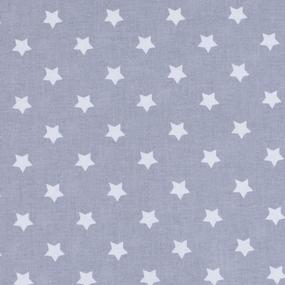 Мерный лоскут поплин 150 см 390/17 Звездочки цвет серый фото