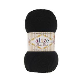 Пряжа ALIZE BABY BEST 60-черный (10% бамбук 90% акрил) фото