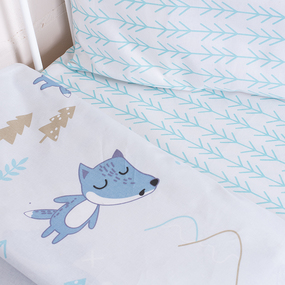 Постельное белье в детскую кроватку 8115 Лисы фото