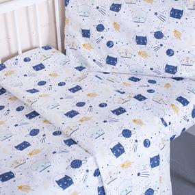 Постельное белье в детскую кроватку 7248/1 Космос фото