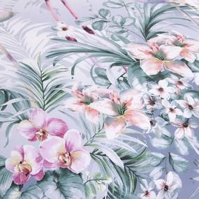 Постельное белье 203562 Фламинго 2 фиолет сатин 1.5 сп фото