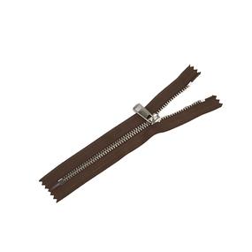 Молния металл №5ТТ никель н/р 18см D568 темно коричневый фото