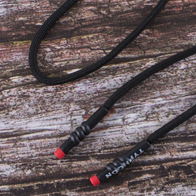 Шнур круглый наконечник с красным витой надпись Typhoon 130см черный уп 2 шт фото