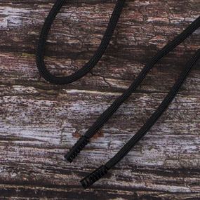 Шнур с декоративным метал наконечником черный 130см черный уп 2 шт фото